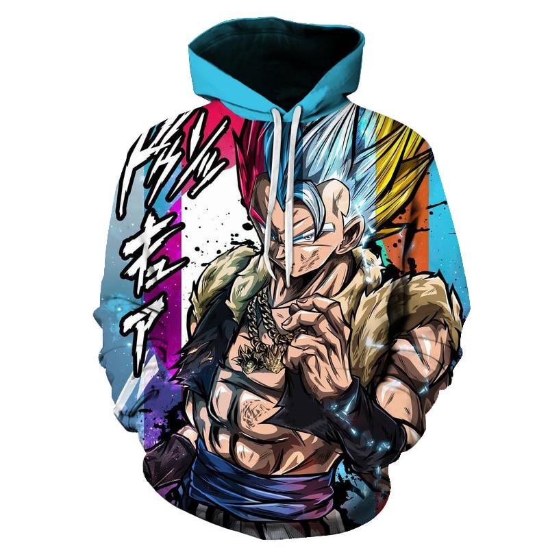 Hot Dragon Ball Super 3D Hoodie Men /Women Spring Autumn Fashion Sweatshirt Unisex Japanese Anime Goku Print Jacket Outerwear