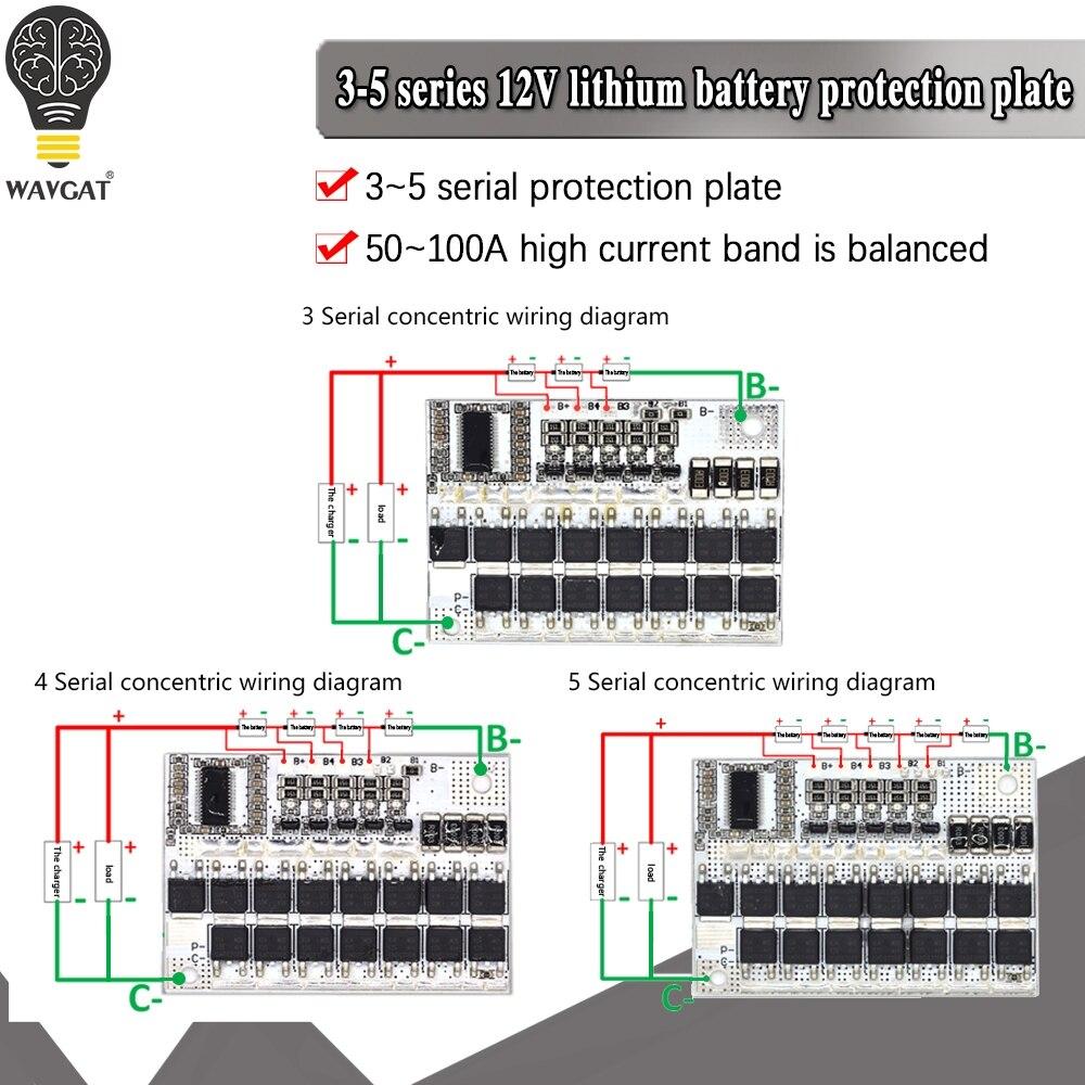 3S 4S 5S Bms 12v 16,8 V 21V 3,7 V 100A литий-ионный ЖИО трехкомпонентная литиевая Батарея защиты печатной платы литий-полимерная батарея для зарядки