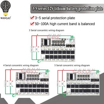 3S 4S 5S Bms 12v 16 8V 21V 3 7V 100A Li-ion Lmo trójskładnikowa pokrywa baterii litowej płytka li-polimer bilans ładowania tanie i dobre opinie WAVGAT CN (pochodzenie) Nowy Smart Electronics 3s 4s 5s Bms Electronic experiment -40℃ ~ +85℃ Module