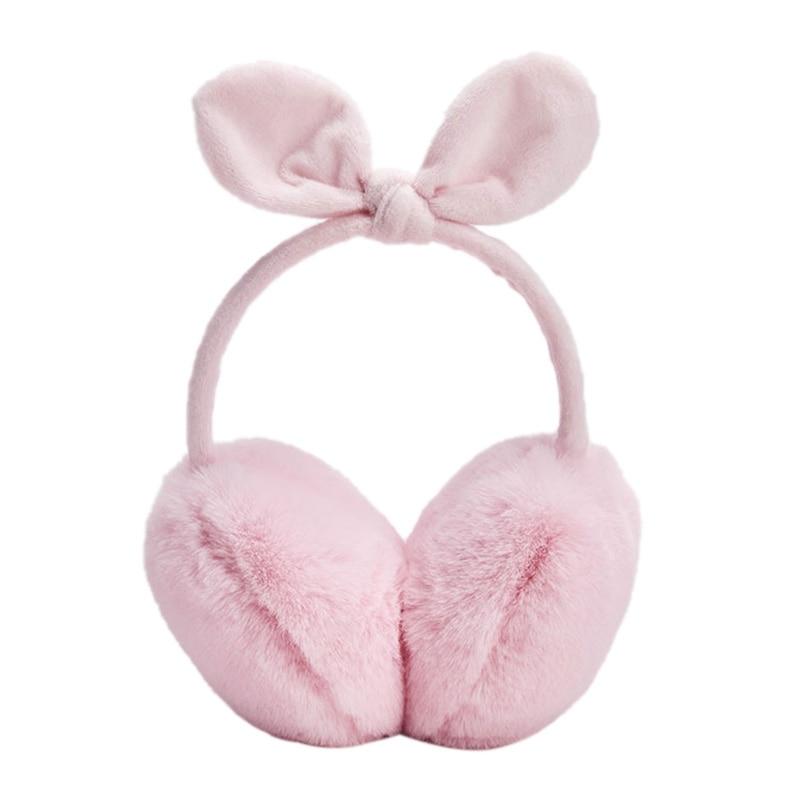 JHD-Ladies Winter Warm Cute Earmuffs Outdoor Earmuffs Bow Warm Earmuffs Plush Children Warm Earmuffs Winter Cold Student Earmuff