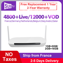 IPTV France Leadcool Q9 RK3229 Android 8.1 Smart Tv Box With 1 Year SUBTV Iptv Code 4K Full HD French Arabic UK Portugal IP TV