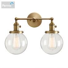 Permo الحديثة نوم الجدار أضواء درج الجدار مصباح الشمعدان 5.9 غلوب زجاج مزدوج الكرة رؤساء خمر تركيبات إضاءة داخلية
