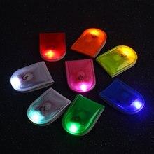 Сигнальная лампа Led легкий магнит пластиковые согревающие велосипедные ходовые огни гаджет Безопасность Светоотражающие маленькие велосипеды ходьба
