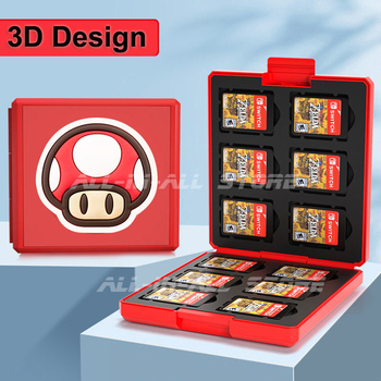 Nintend Switch 12 Game Card Storage Box Protective Animal Crossing Carrying Games Case for Nitendo Nintendo Switch accessories 1