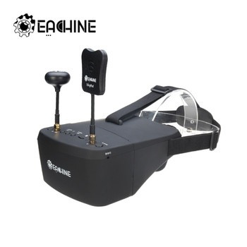 Eachine EV800D 5 8G 40CH 5 Cal 800*480 wideo zestaw słuchawkowy HD DVR różnorodności gogle FPV z baterią do Model RC części do drona zdalnie sterowanego tanie i dobre opinie Composite Material FPV Goggles Pojazdów i zabawki zdalnie sterowane Kv1100 Śmigłowce
