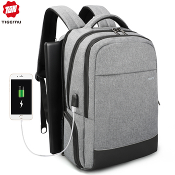 Tigernu  Anti theft Male Mochila Business Multifunctional USB Charging 15 inch Laptop Backpack Water Resistant School Backbag
