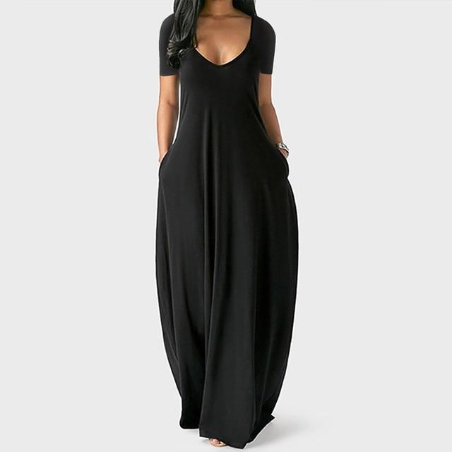 Plus Size 5xl Sexy Women Dress Summer 2021 Solid Casual Sleeveless Maxi Dress For Women Long Dress Dropshipping Lady Dresses 1