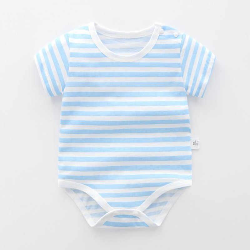 100% algodão bebê recém-nascido bodysit tondler onesie no verão roupas de meninos gêmeos recém-nascidos roupas stipped manga curta crianças corpo para meninas