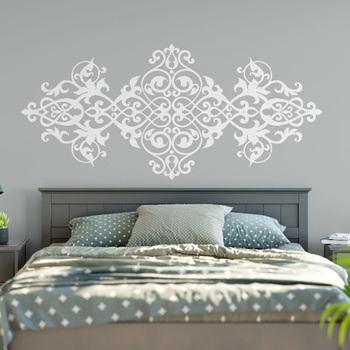 Duży rozmiar Vintage zagłówek naklejka styl barokowy projekt Mandala ściana kwiatów naklejki główna sypialnia wystrój sztuka dla domu M28 tanie i dobre opinie ZINIAN Płaska naklejka ścienna AMERYKAŃSKI STYL Jednoczęściowy pakiet WALL PATTERN