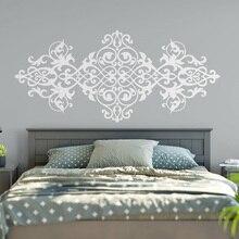 Gran tamaño Vintage pegatina de cabecera para pared estilo barroco diseño Mandala Pared de flores pegatinas maestro dormitorio arte decoración del hogar M28