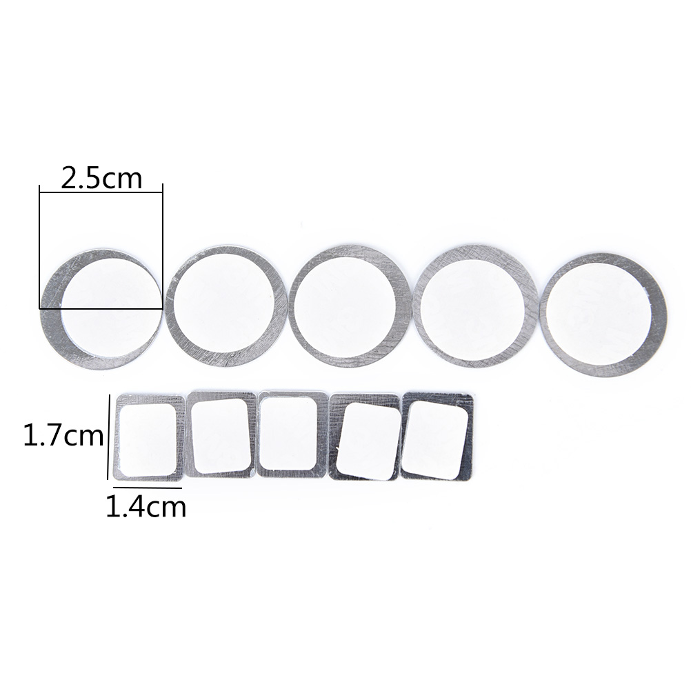 Hot 20pcs For Eyeshadow To Hold Rectangle Metal Stickers Magnetic Eyeshadow Palette Tightly Round