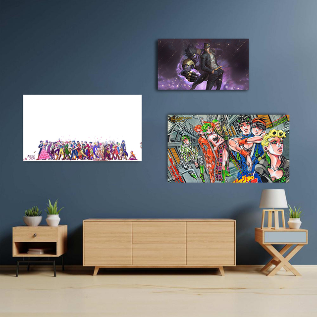 JoJo's Bizarre Adventure Poster Wall Art Decoration prints Canvas for Dorm living room Home kids bedroom decor Painting 4