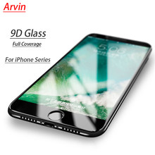 for iphone 8 Glass Screen Protector Black 3D Tempered Glass Full Cover Protector 7 8 Plus For Iphone 7 6s Glass Screen Protector(China)