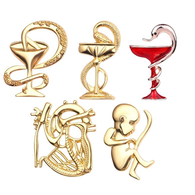 Бижутерия из сплава, брошь в форме модели медицинского символа, креативная Брошь булавка, брошь в форме сердца медсестры, подарок для мужчин и женщин|Броши|   | АлиЭкспресс