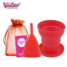 1 шт медицинская силиконовая менструальная чаша складная для