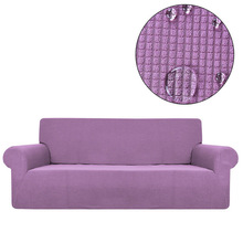 Sofa Cover Waterproof Solid Color Covers for Living Room Armchairs Stretch Covers Sofas Elastic Decor Furniture