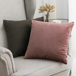 Dekoracyjna aksamitna poduszka do rzucania poduszka miękka wygodna poduszka pokrywa Soild kwadratowe poduszki etui na sofę sypialnia samochód