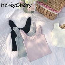 цена Children's Clothing Children's Lace Vest 2020 Summer New Korean Girls Vest little girls clothing онлайн в 2017 году