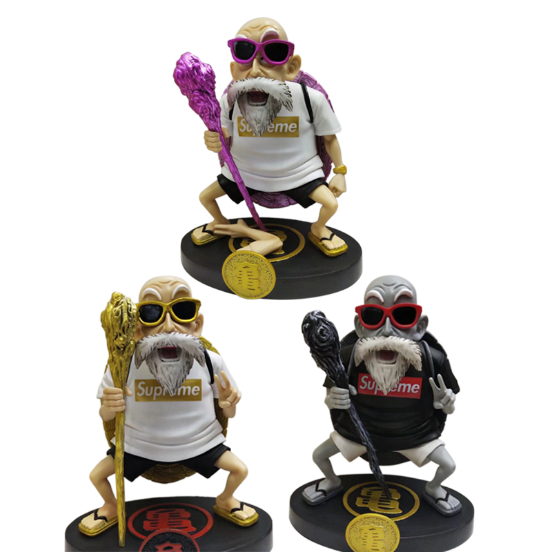 Animation Dragon Ball Z Kame Sennin Gold Plating Master Roshi Resin Scenes Statue Action Figure Collection Model ToyAction & Toy Figures   -