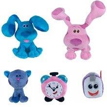 2 pçs azul pistas & você cão de pelúcia animais brinquedo para crianças xmax presente