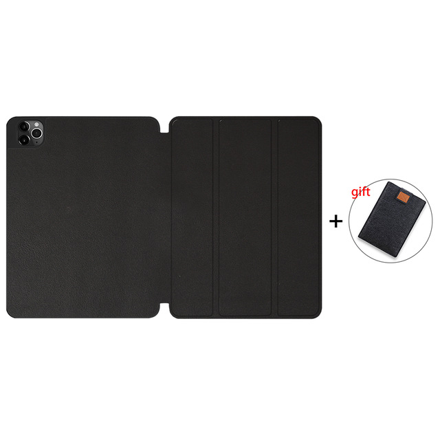 Black Gold MTT Soft TPU Case For iPad Pro 11 inch 2nd Gen 2020 Tablet PU Leather Flip