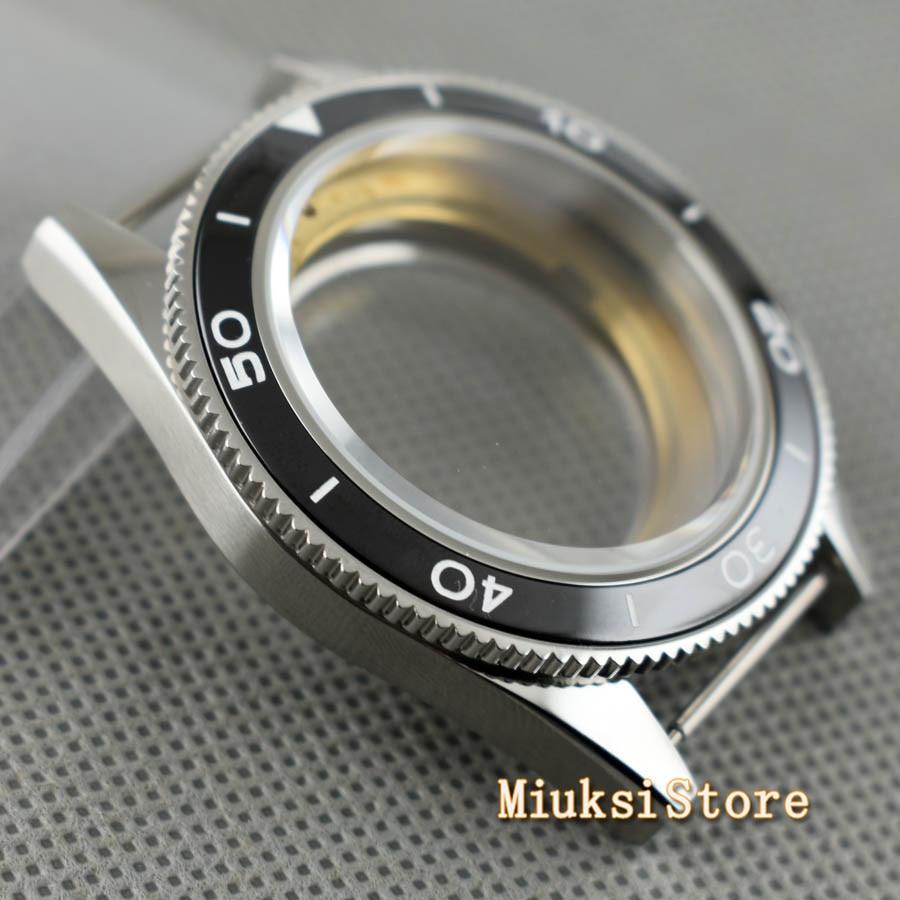 Image 2 - Corgeut 41mm top watch case sapphire glass ceramic bezel  fit  Miyota 8205/8215 82 Series ETA 2836 DG2813Watch Cases
