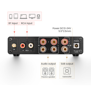 Image 4 - أيما مجهار النغمات خفيضة التردد TPA3116, مضخم صوت TPA3116D2، بلوتوث، هاي فاي، مكبرات صوت رقمية 2.1 قناة، 50 واط*2 + 100 واط تيار مباشر 12 24 فولت