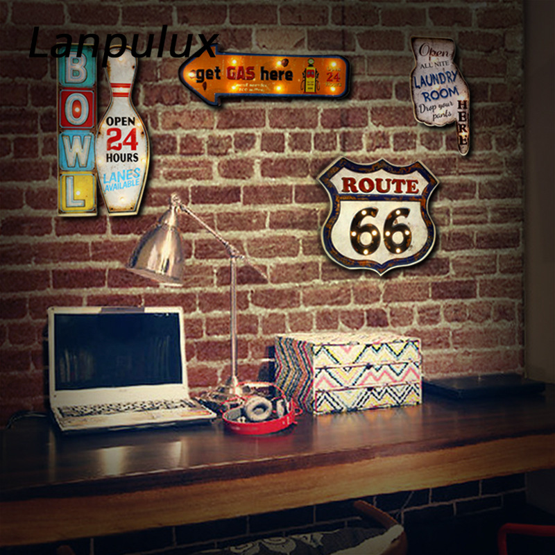 arte route66 cola sorvete noite luzes controle 03