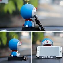 Cartoon shake head doll car decoration blue fat car ornaments Pokonyan doll car interior decoration