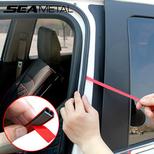 Tira de sellado para puerta de coche tira de goma para puerta de automóvil tipo B, pegatinas adhesivas para Borde de maletero, cintas embellecedoras para parachoques