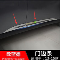 For Mitsubishi Outlander 2013 2019 Car styling ABS Chrome body side moldings side door decoration Door Body Side Line Cover