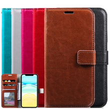 Wallet Cover for iPhone 11 Pro X XS MAX XR Flip Phone Shell for 6 6S 7 8 Plus 5 5S Leather Case With Card Slots Money Pocket 3 card slots wallet crazy horse leather mobile case for iphone 7 plus 5 5 brown