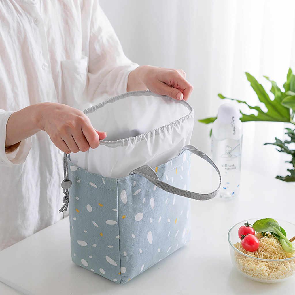 2020 najnowszy przenośne torby na Lunch izolowane fajne torba na Lunch torba na torby na piknik szkoły Lunchbox worek kuchenny do przechowywania 20cm x 19cm x 13cm 64P