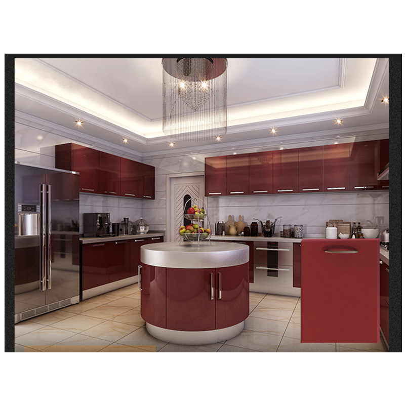 Factory Outlets Modern Island Designs Cheap Lacquer Green Blue Red White Color Kitchen Cabinets Kitchen Cabinets Aliexpress