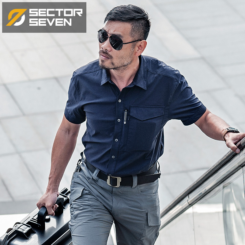 2020 New Mens Military Shirt Combat Tactical Shirt Army Clothing Male Shirt Quick Dry Breathable Elasticity Casual Shirt