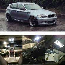 Juego completo de iluminación interior LED para coche, luz de lectura trasera, sin error, para BMW 1er E81 E87, 12 unidades