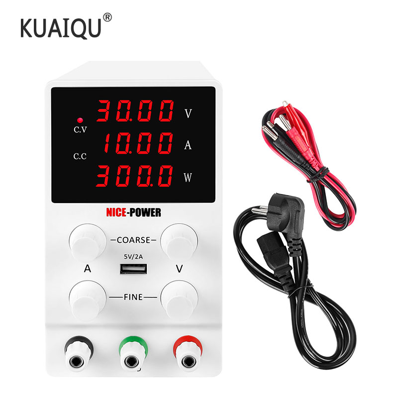Ayarlanabilir DC güç kaynağı 30V 10A LED dijital laboratuar tezgahı güç kaynağı stabilize anahtarı güç kaynağı voltaj regülatörü 110v 220v