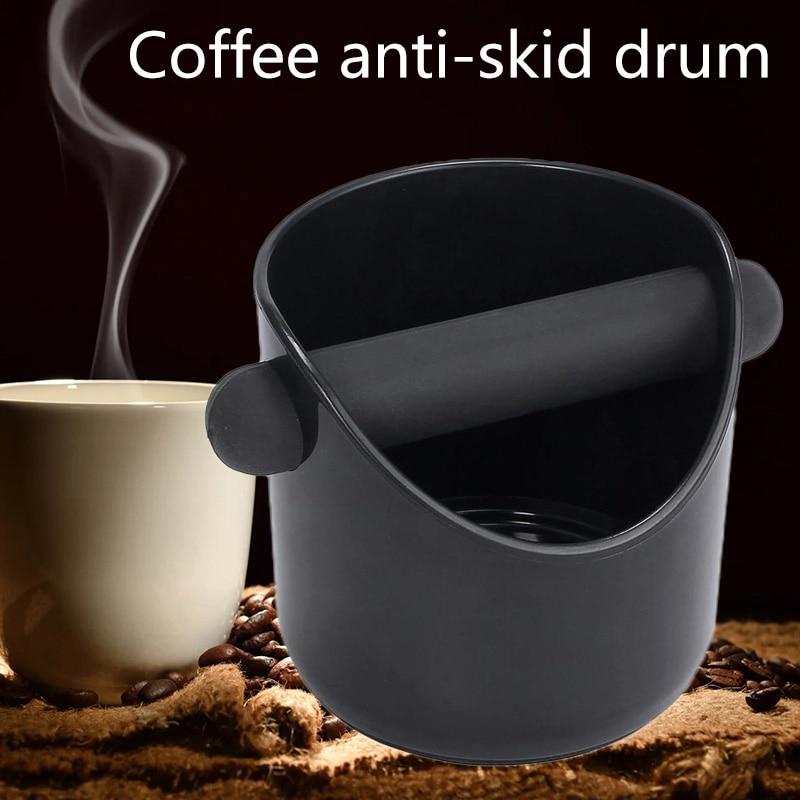 ABS şok emici Espresso ahşap kutu Anti kayma kahve öğütme çöp kutusu çöp kutusu ayrılabilir vurmak çubuğu Barista için