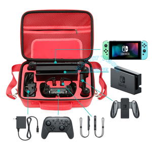 Image 5 - Nintend Nintendoswitch Grande Saco de Armazenamento Bolsa De Transporte Acessórios de Switch Interruptor de Viagem Dura Da Tampa do Caso & Temperado Film para Nintendo Game