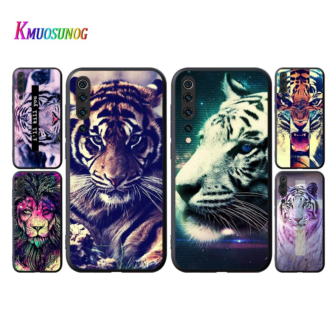 Colorful <font><b>Lion</b></font> Tiger Style Cover for <font><b>Xiaomi</b></font> <font><b>Mi</b></font> 9 9T CC9 10 Lite 5G Pro Note 10 9 SE 8 A3 A2 6X Lite Phone <font><b>Case</b></font> image