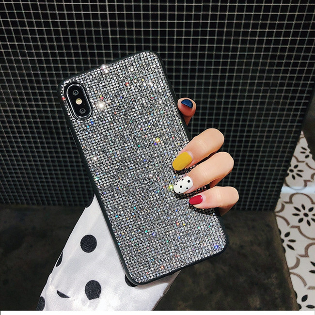 YOACHEY Glitter Case for iPhone X 7 8 6 S 6S Plus Luxury Bling Sequins Diamond Phone Case for iPhone XR XS Max Girl Cover Fundas