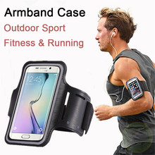 "High Quality Waterproof 5.5"" Gym Running Phone Bag Arm Band Case for iPhone 7 Outdoor Sports Phone Holder Armband Case for J4 J6(China)"