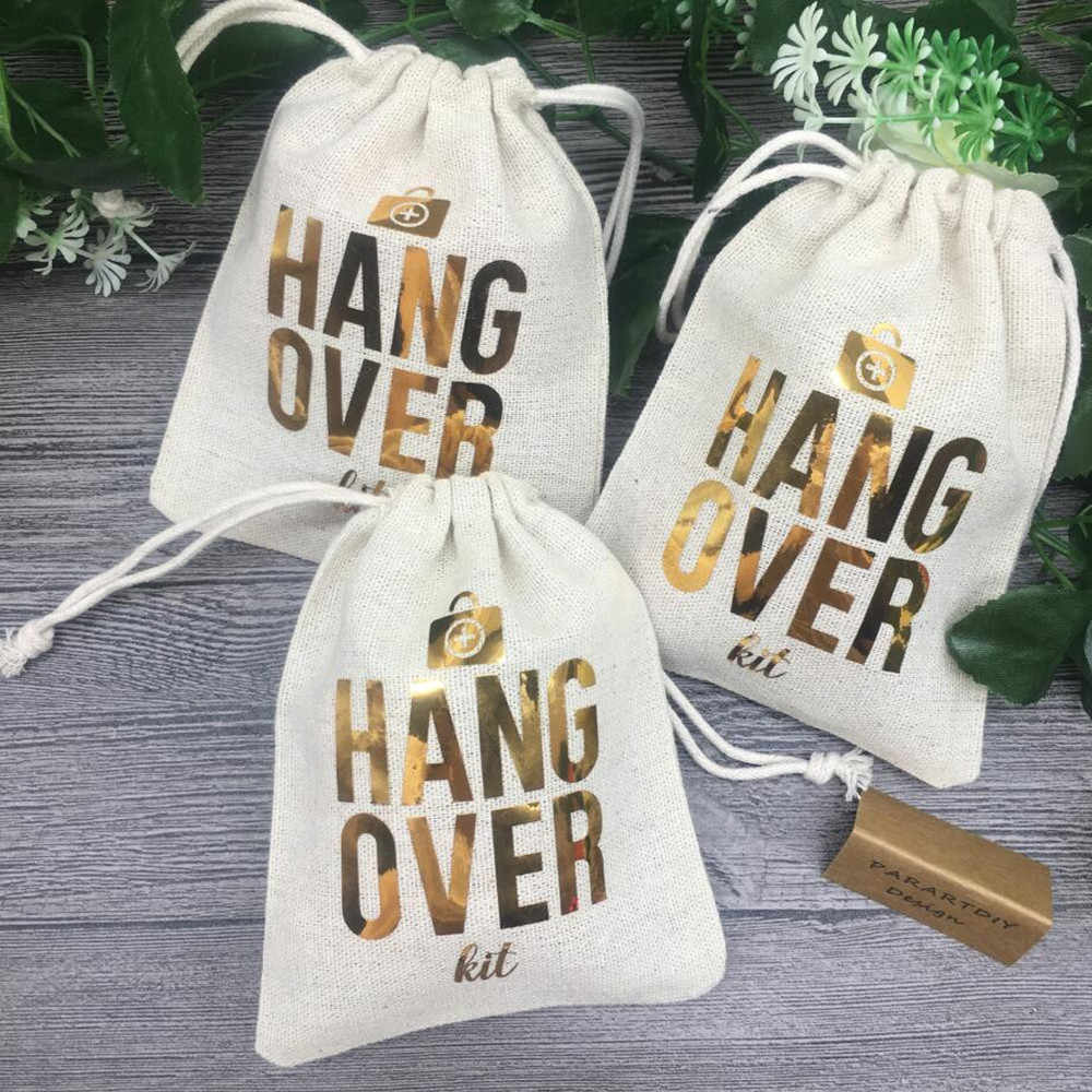 customize gold bridesmaid survival wedding Bachelorette Hangover Kits party Candy pouches Perfect Blend favor bags