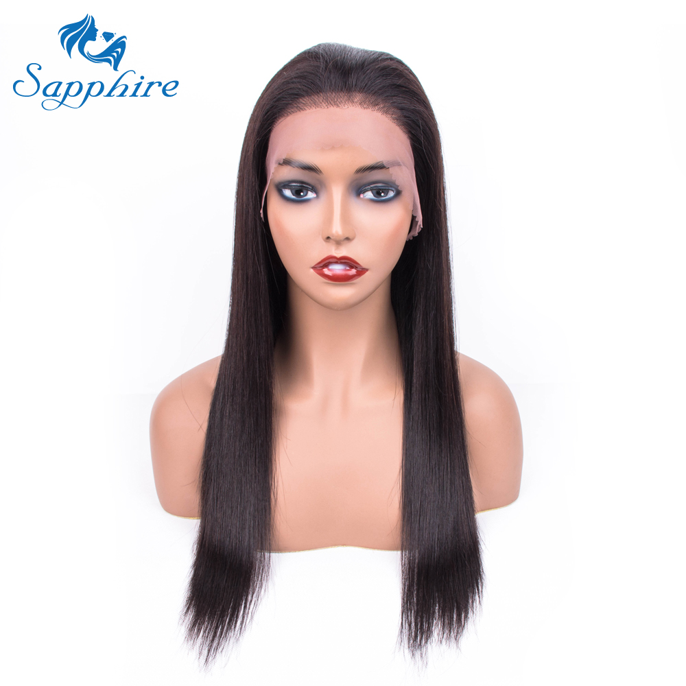 Straight Hair Lace Frontal Human Hair Wigs For Women Pre Plucked With Baby Hair 13*4 Lace Wig Brazilian Hair Bleached Knot