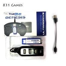 2019 Nuovo Arrivo 813 Giochi per 2 giocatori True Blue Mini Ultradrive Pack per Genesis per Mega Drive Mini in Tempo reale Consente di Risparmiare
