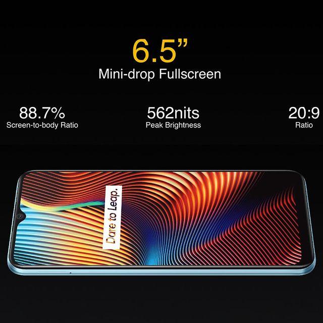 realme 7i RMX2193 6.5''HD+ 4GB 64GB 48MP AI Triple Cams Smartphone Helio G85 Octa Core 18W Quick Charge 6000mAh Mobile Phone 4