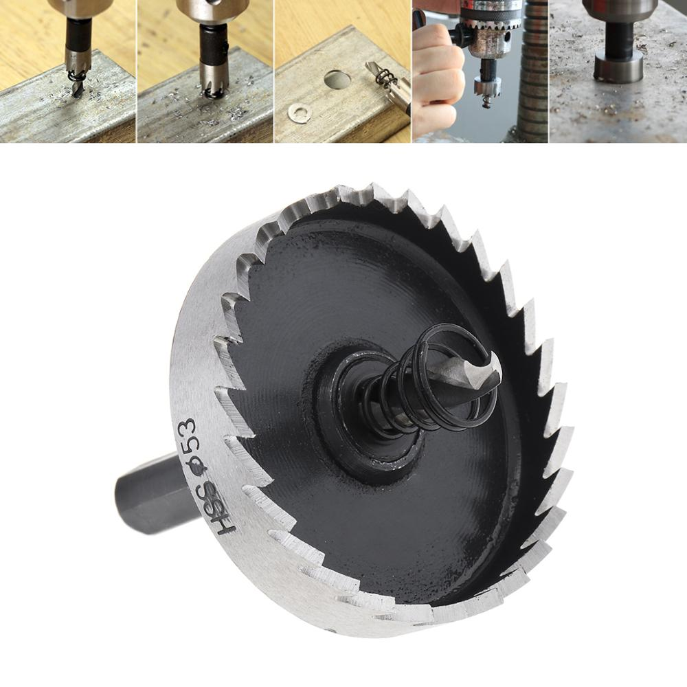 53mm 65mm High Speed Steel Gear Type Hole Saw Drill Bit For Stainless Steel Pipe Aluminium Pipe With Hexagon Wrench