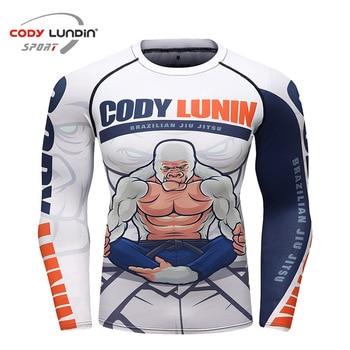 Jiu jitsu muay thai camiseta bjj lycra para hombres mma camisas de compresión gimnasio deporte camisetas erupción fitness boxeo camisetas