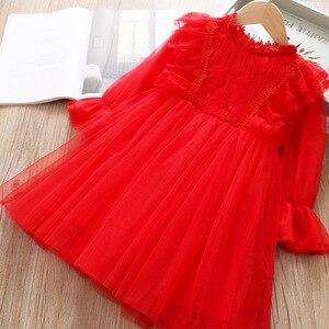 Image 3 - Кружевное платье для девочек; платье принцессы для маленьких девочек; коллекция 2020 года; сезон весна