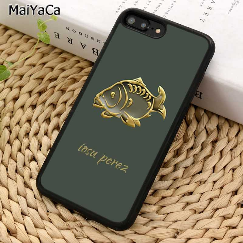 MaiYaCa Fish Repeat 개인화 된 이름 Carp Phone Case For iPhone 5 6S 7 8 plus 11 Pro X XR XS Max 삼성 갤럭시 S7 S8 S9 S10